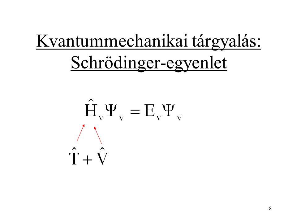 Kinetikus energia Mivel a mozgás csak egy irányba történik (jelöljük q-val!) 9