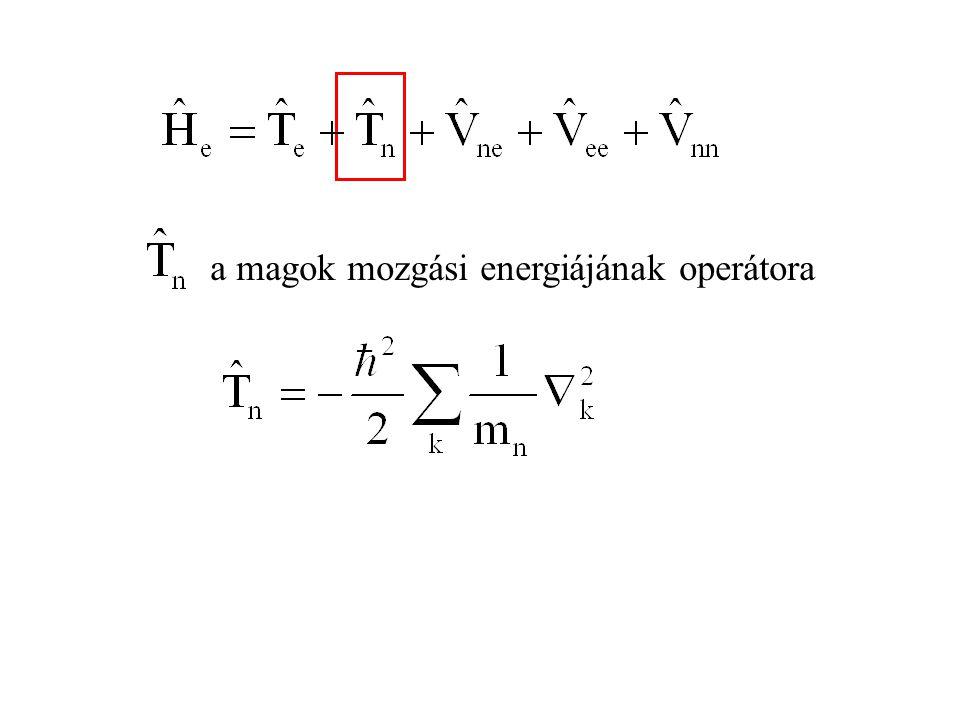 8.6.Számításos kémia Molekulák tulajdonságait számítjuk, felhasználva a variációs elvet.