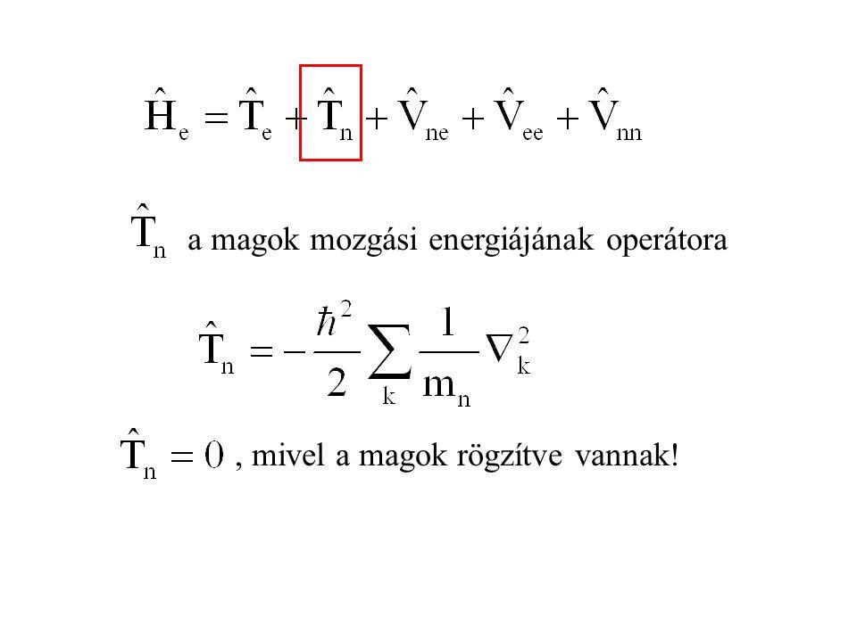 A független részecske modellt használva az elektronszerkezetre felírt Shrödinger-egyenleben