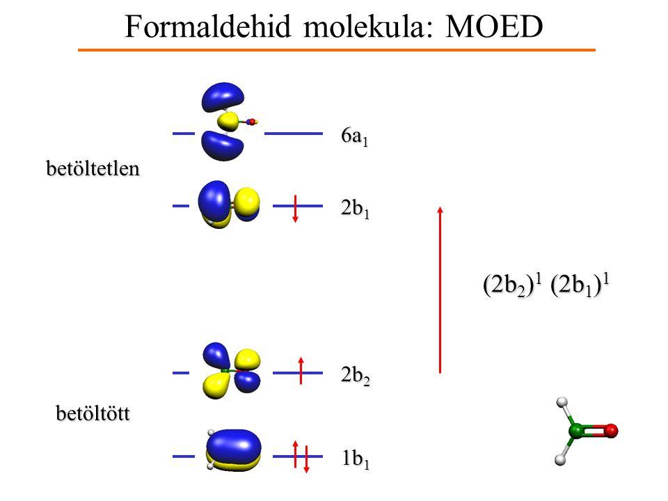 Formaldehid molekula: MOED 2p