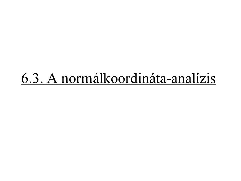 6.3. A normálkoordináta-analízis