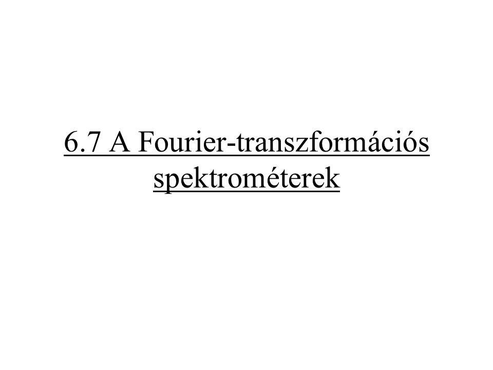 6.7 A Fourier-transzformációs spektrométerek