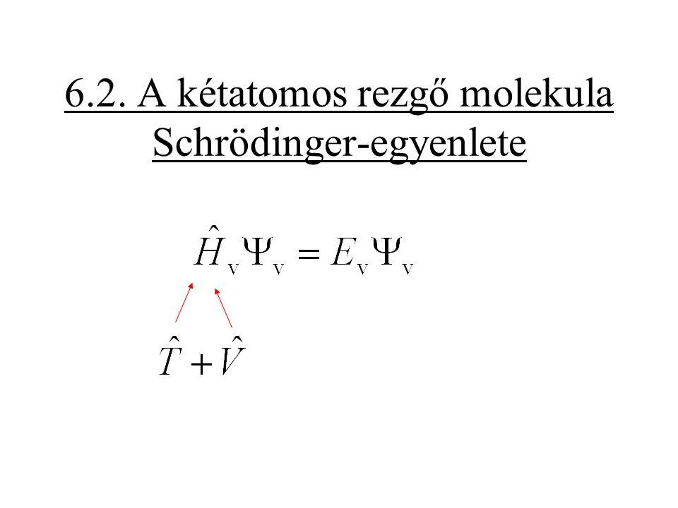 A közelítések tökéletlenek 1.A kétatomos molekulák rezgőmozgása nem teljesen harmónikus.