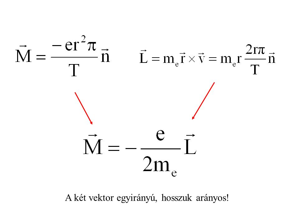 A két vektor egyirányú, hosszuk arányos!