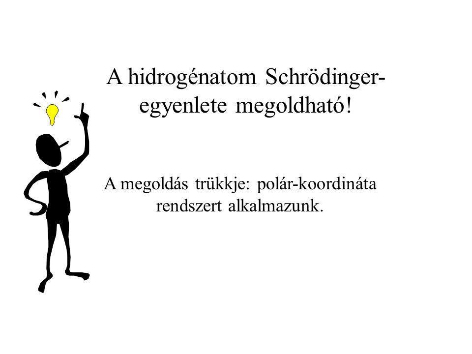 A hidrogénatom Schrödinger- egyenlete megoldható.