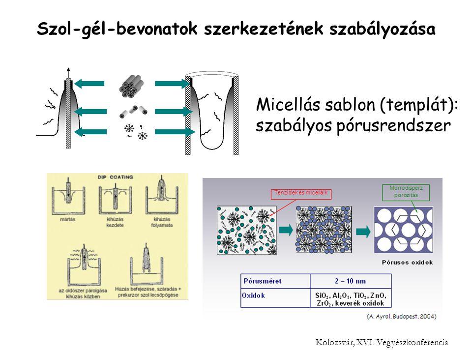 Micellás sablon (templát): szabályos pórusrendszer Kolozsvár, XVI.