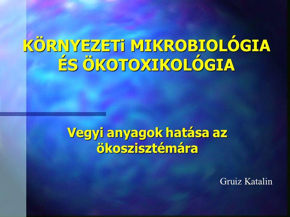 KÖRNYEZETi MIKROBIOLÓGIA ÉS ÖKOTOXIKOLÓGIA Vegyi anyagok hatása az ökoszisztémára Gruiz Katalin