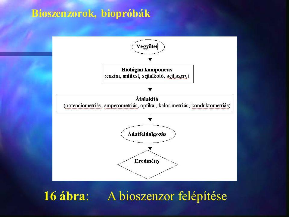 16 ábra: A bioszenzor felépítése Bioszenzorok, biopróbák