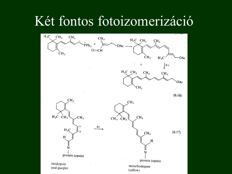 Két fontos fotoizomerizáció