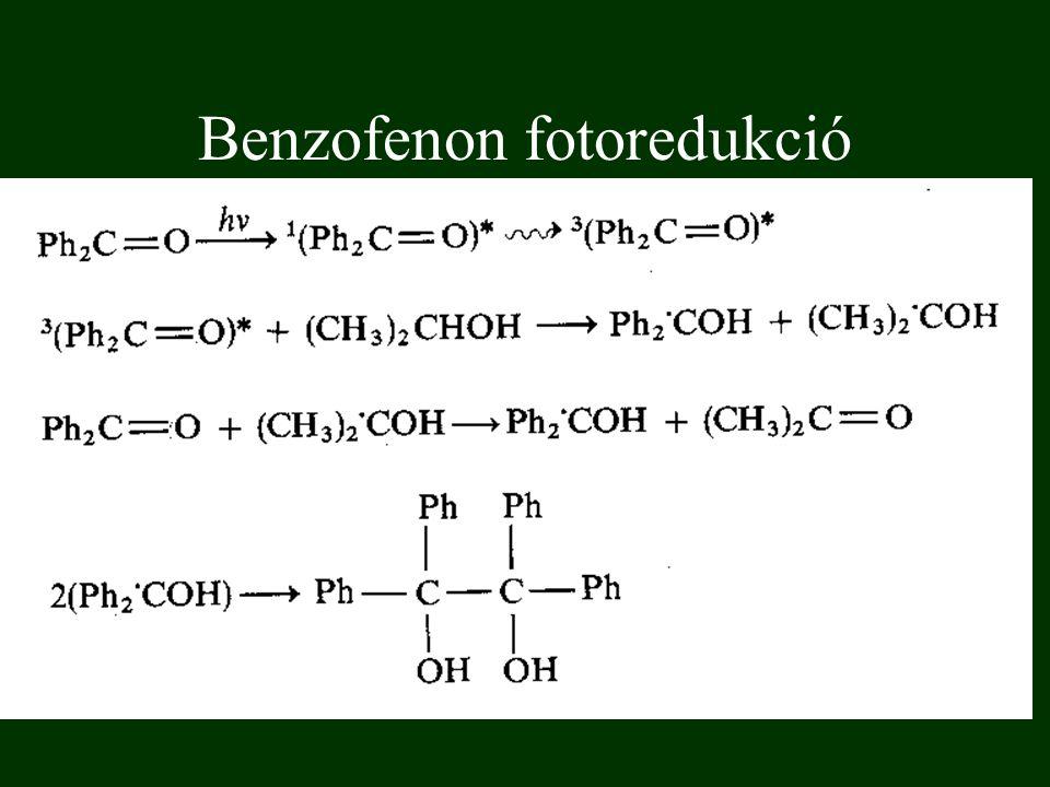 Benzofenon fotoredukció