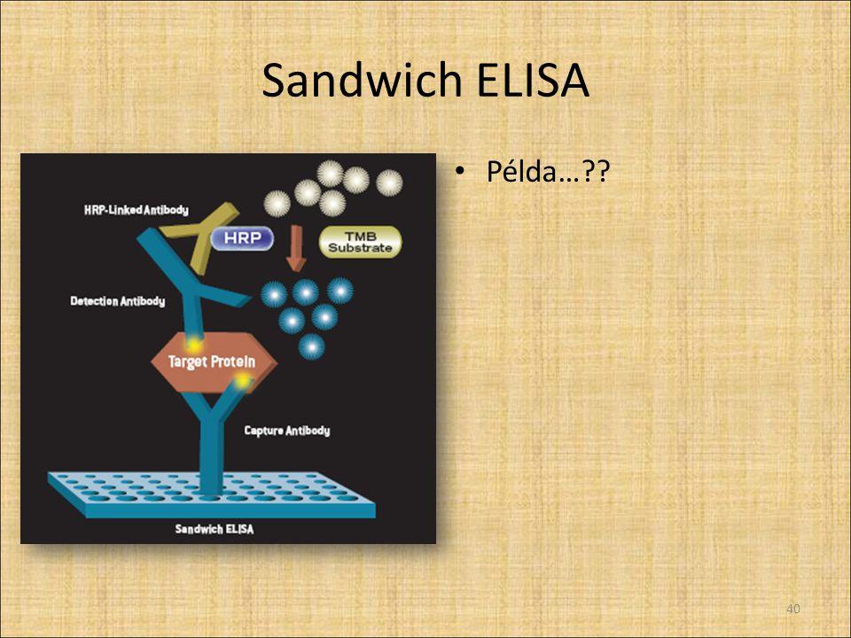 Sandwich ELISA Példa…?? 40