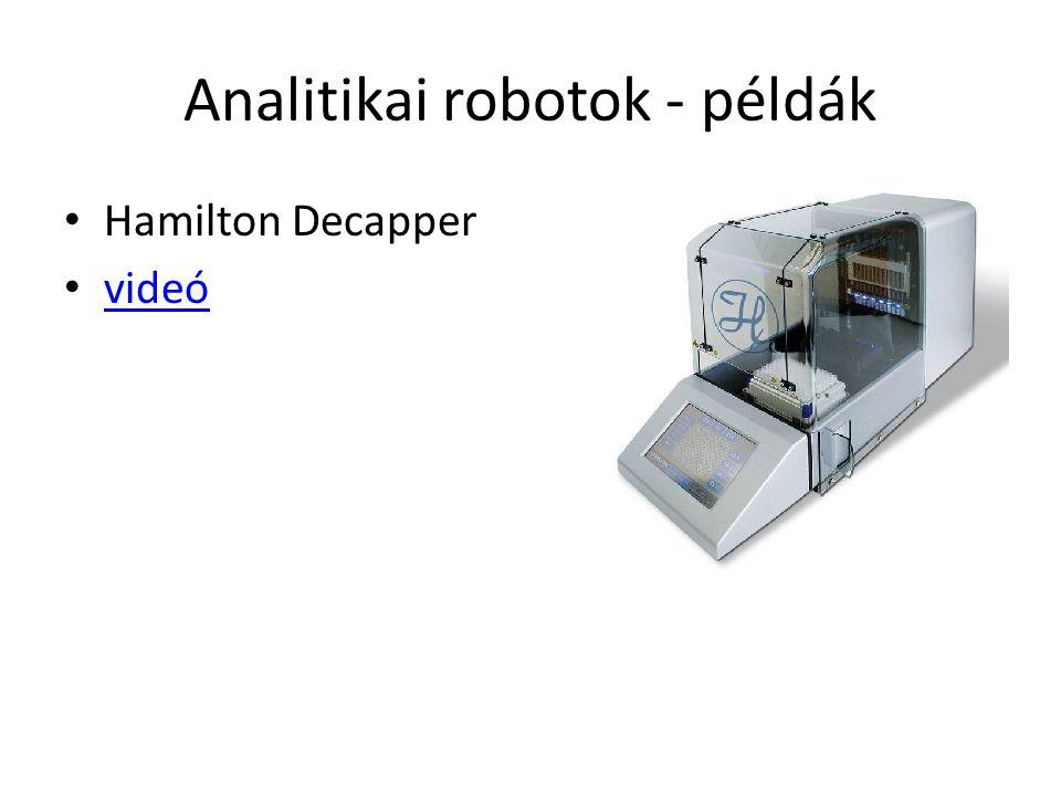 Analitikai robotok - példák Hamilton Decapper videó