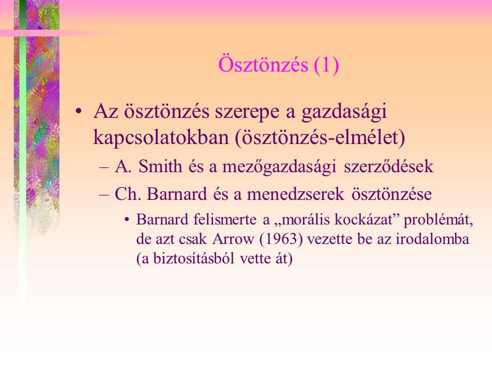 """Ösztönzés (2) Hume, Wicksell, Grove: a potyautas probléma –A """"potyautas jelenséget először D."""