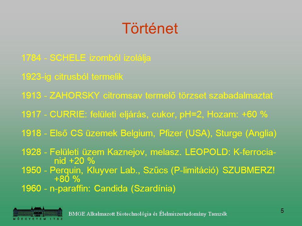 16 Fermentor: 120-220 m 3 keverős reaktor 200-1000 m 3 air-lift, merülő-sugaras (pelletképzés).