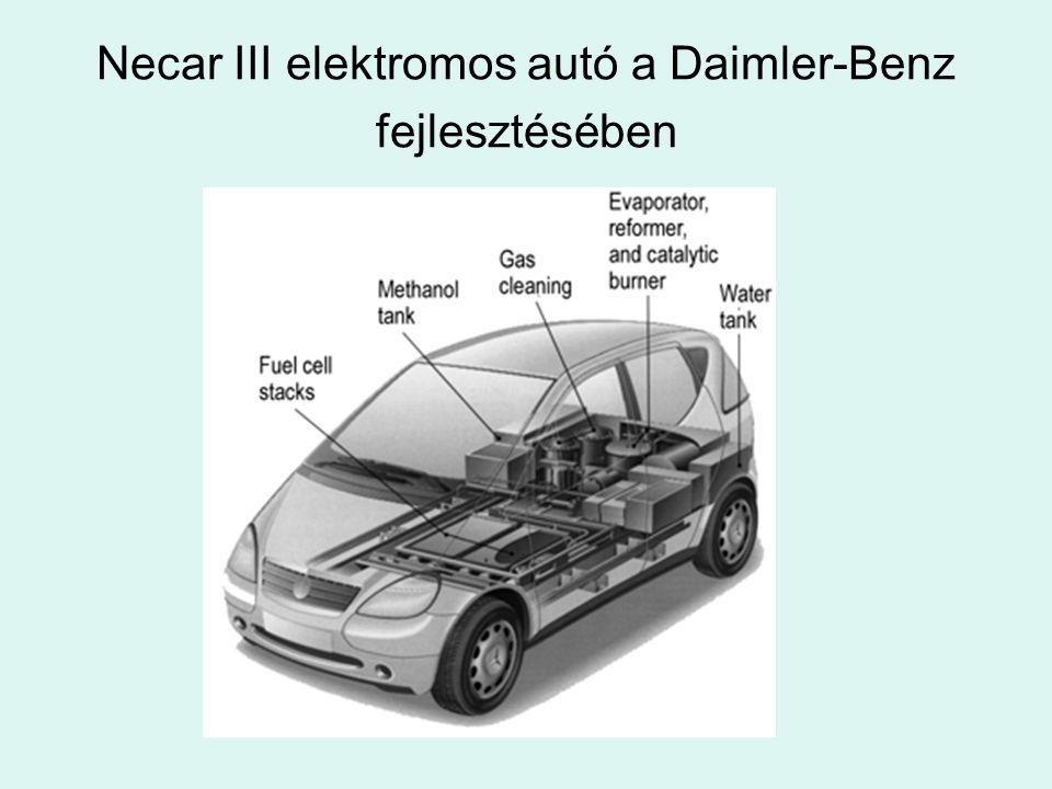 Necar III elektromos autó a Daimler-Benz fejlesztésében