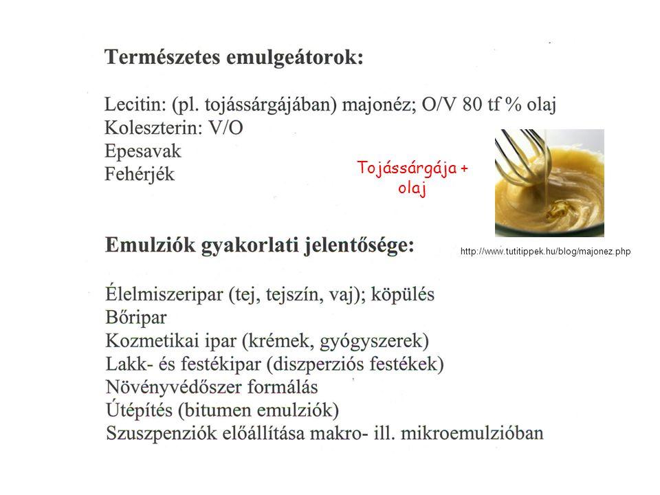 http://www.tutitippek.hu/blog/majonez.php Tojássárgája + olaj