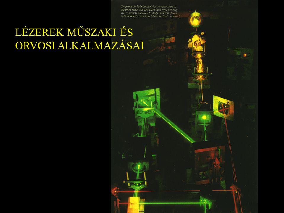 2 15. Lézerek műszaki alkalmazásai Lézeres magfúzió nagy energiasűrűség