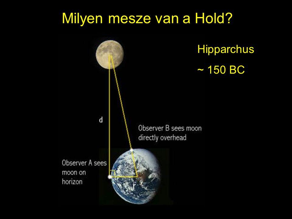 20 Milyen mesze van a Hold? Hipparchus ~ 150 BC