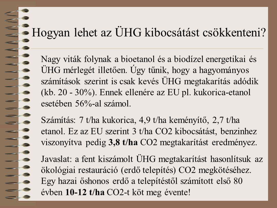 Nagy viták folynak a bioetanol és a biodízel energetikai és ÜHG mérlegét illetően. Úgy tűnik, hogy a hagyományos számítások szerint is csak kevés ÜHG