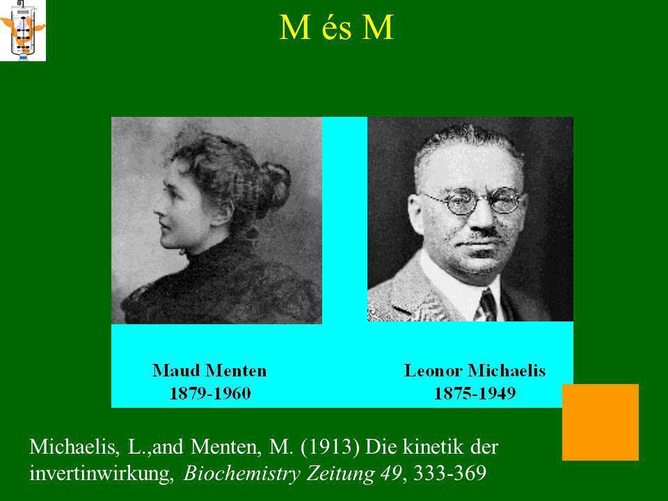 M és M Michaelis, L.,and Menten, M.