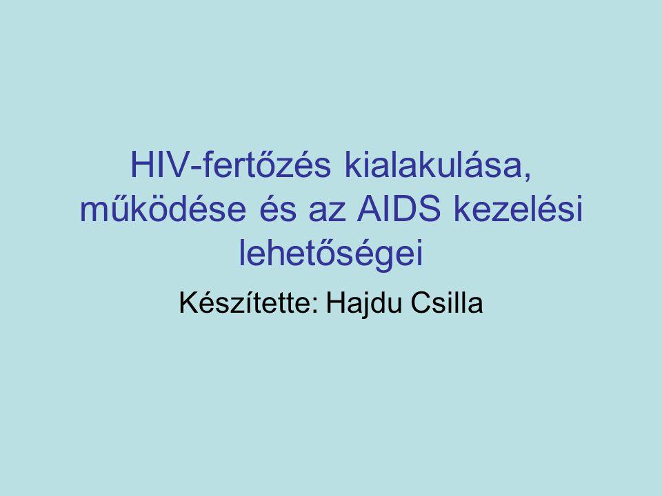 HIV-fertőzés kialakulása, működése és az AIDS kezelési lehetőségei Készítette: Hajdu Csilla
