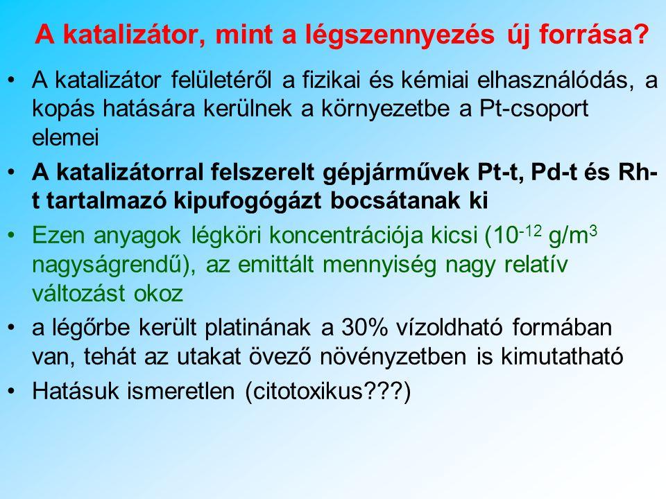 A KATALIZÁTOR A katalizátorok bevezetésével egyidejűleg az ólmozott benzin használatát is kerülni kell, mert az ólom katalizátorméregként hat (csökkenti a katalizátor hatásfokát).