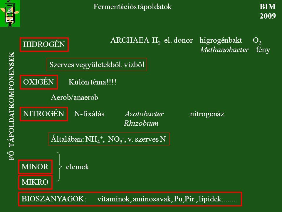 EnergiaforrásOxidánsRespirációPélda (redukáló=oxi-(terminális elekt-termékei dálódó vegyület)ron akceptor) *H 2 SO 4 2- H 2 O+S 2- Desulfovibrio *Szerves ve-NO 3- N 2 +CO 2 Denitrifikáló baktérium gyület S 2- + NO 3 - N 2 +elemi S Thiomargarita NADH visszaoxidálása: más elektronakceptorok BIM-BSc 2009