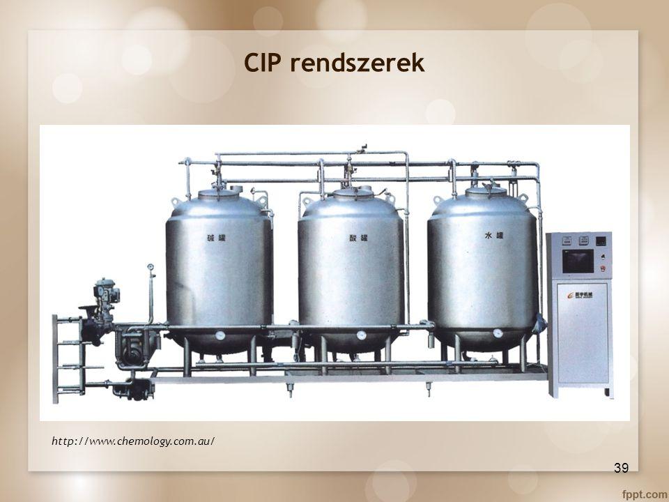 CIP rendszerek http://www.chemology.com.au/ 39