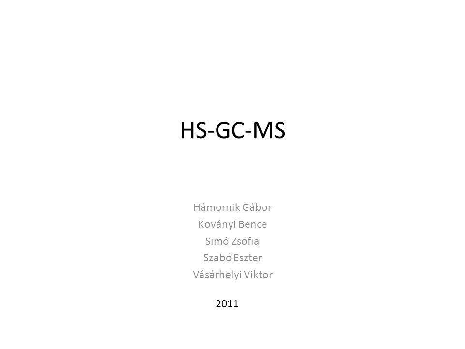 HS-GC-MS Környezetvédelem: Napjainkban a környezetvédelmi vizsgálatok egyik fontos részét képezi a víz, talajok illékony komponenseinek meghatározása.