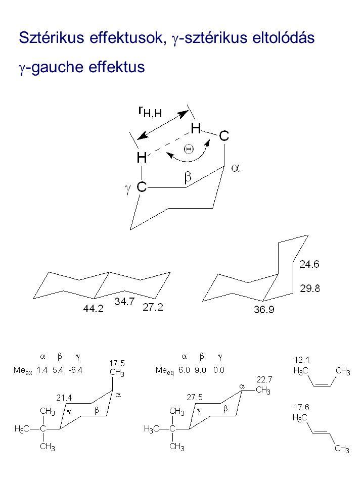 Sztérikus effektusok,  -sztérikus eltolódás  -gauche effektus