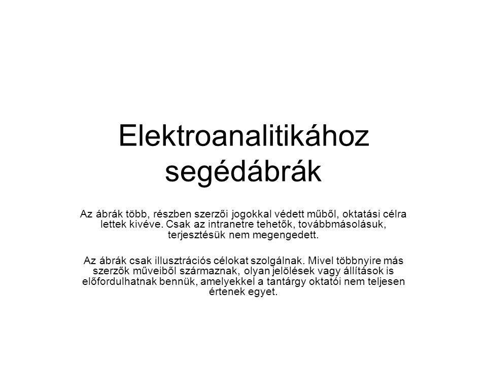 Elektroanalitikához segédábrák Az ábrák több, részben szerzői jogokkal védett műből, oktatási célra lettek kivéve.