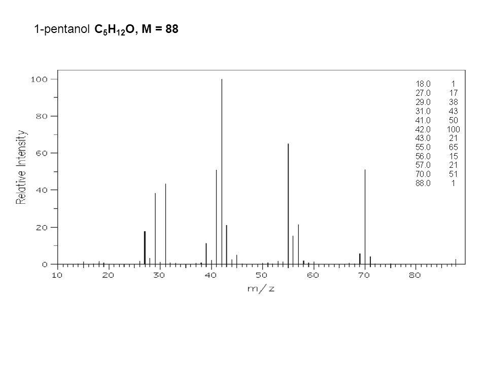 1-pentanol C 5 H 12 O, M = 88