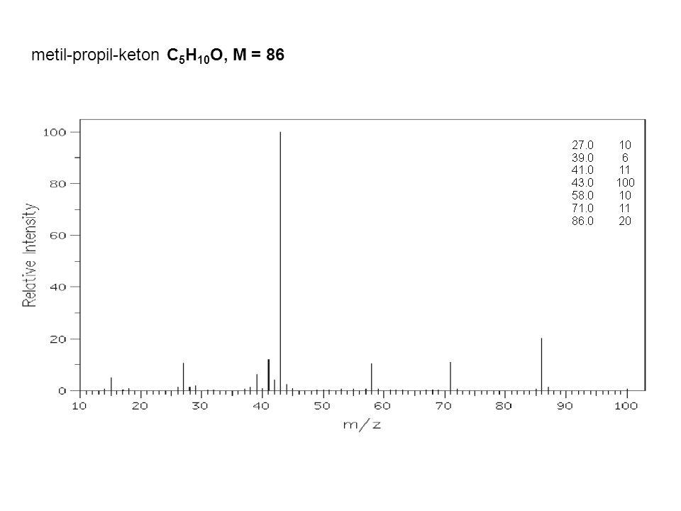 metil-propil-keton C 5 H 10 O, M = 86