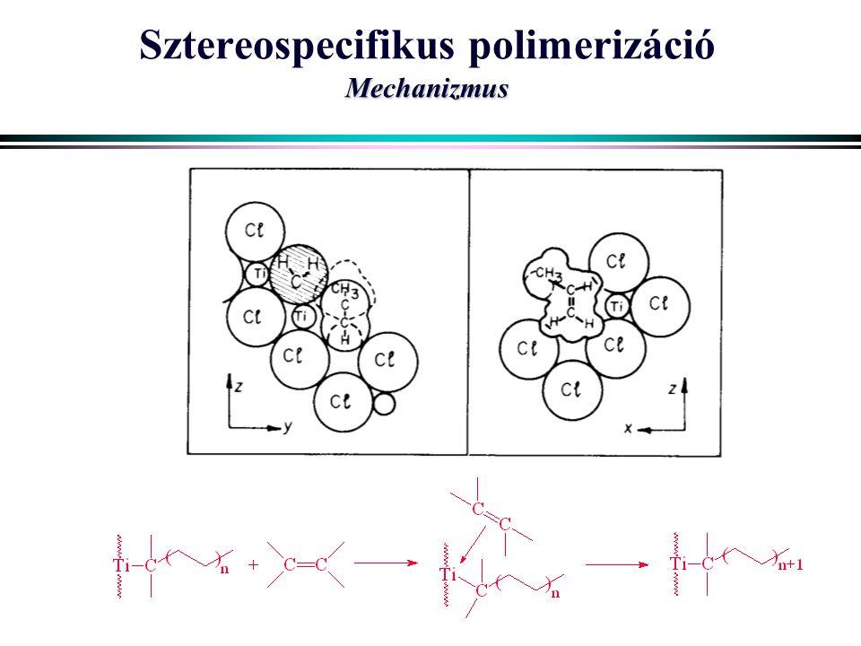Mechanizmus Sztereospecifikus polimerizáció Mechanizmus