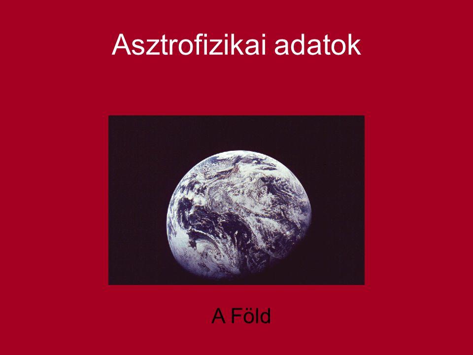 Asztrofizikai adatok A Föld
