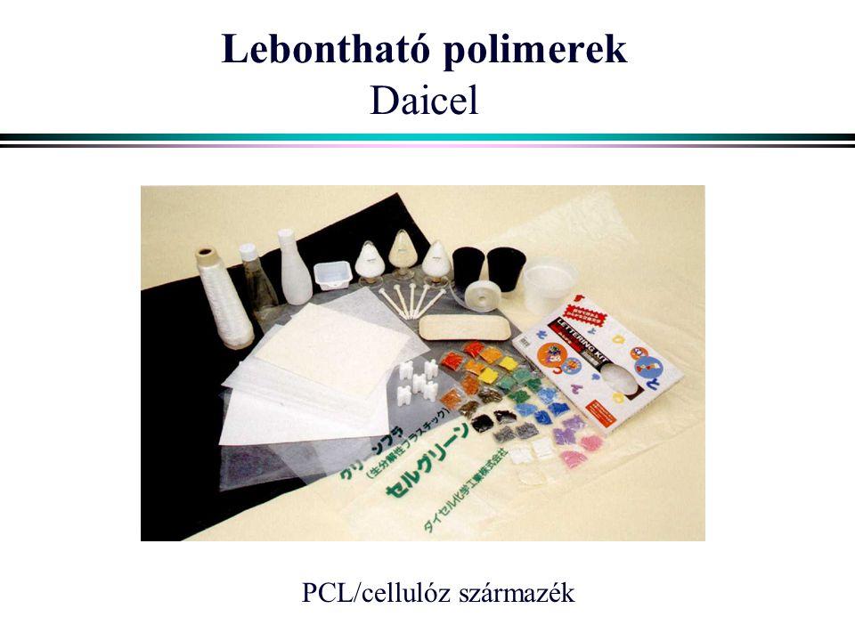 Lebontható polimerek Daicel PCL/cellulóz származék