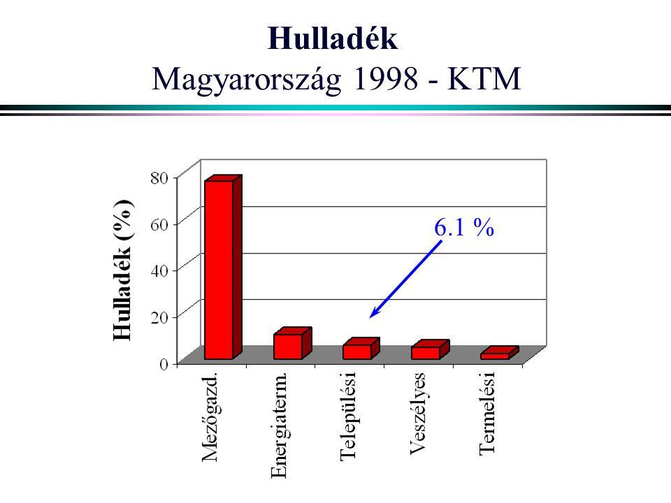 Hulladék Magyarország 1998 - KTM 6.1 %