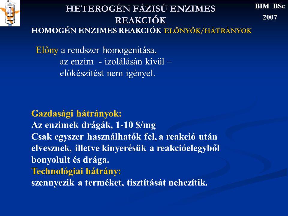 RÖGZITETT ENZIMEK KINETIKÁJA BELSŐ ANYAGÁTADÁS 3.