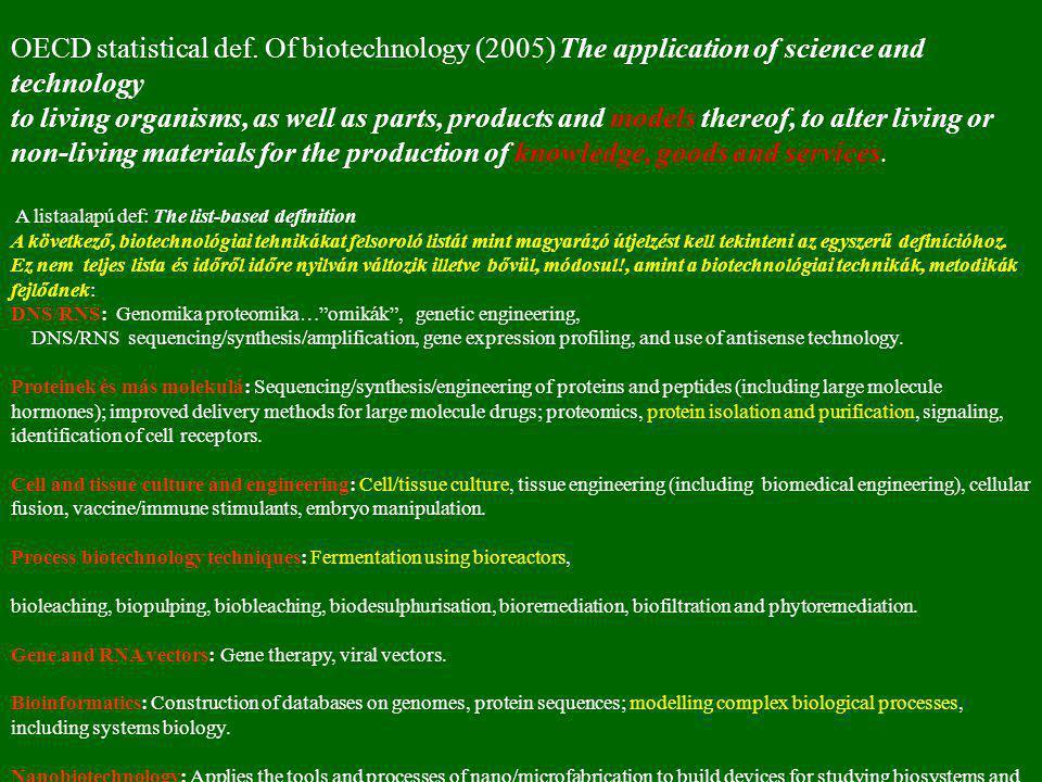 1.1. A biotechnológia vázlatos története 7-13. oldal