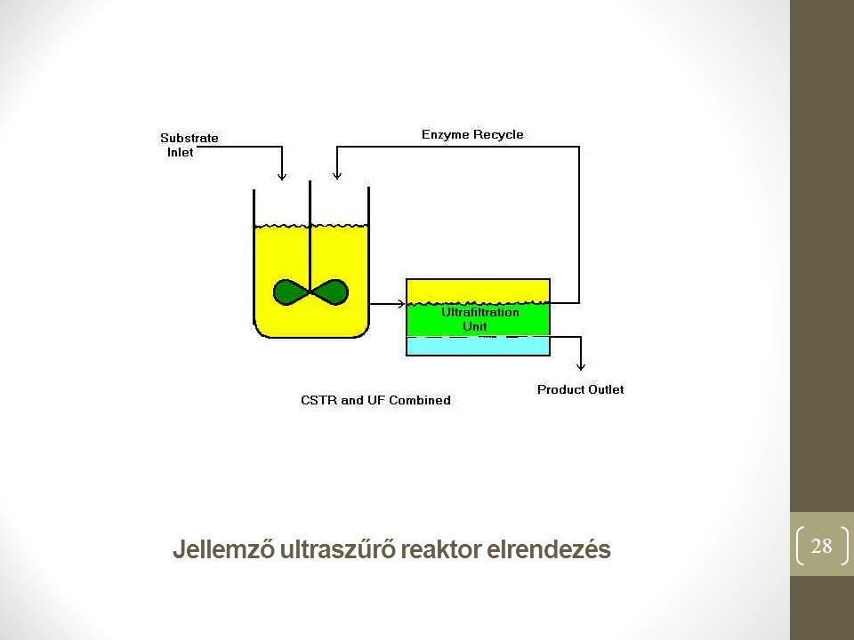 Jellemző ultraszűrő reaktor elrendezés 28