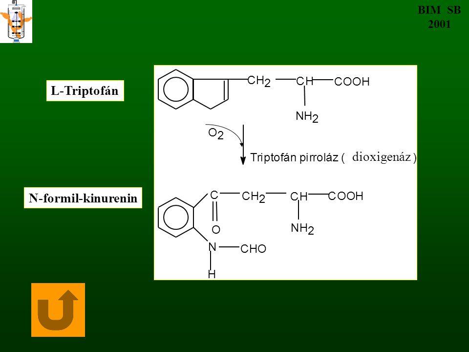 EGYÉB OX/RED ÁTALAKULÁSOK BIM SB 2001 R - C –R' + NAD(P)H + H + → R –CH - R' + NAD(P) + O OH Prokirális vegyület Királis vegyület Enzimek: ADH LDH AsDH Keton, ketosav Imin, iminosav Alkohol Aminosav KIROTECHNOLÓGIA KOENZIM REGENERÁLÁS NH NH 2