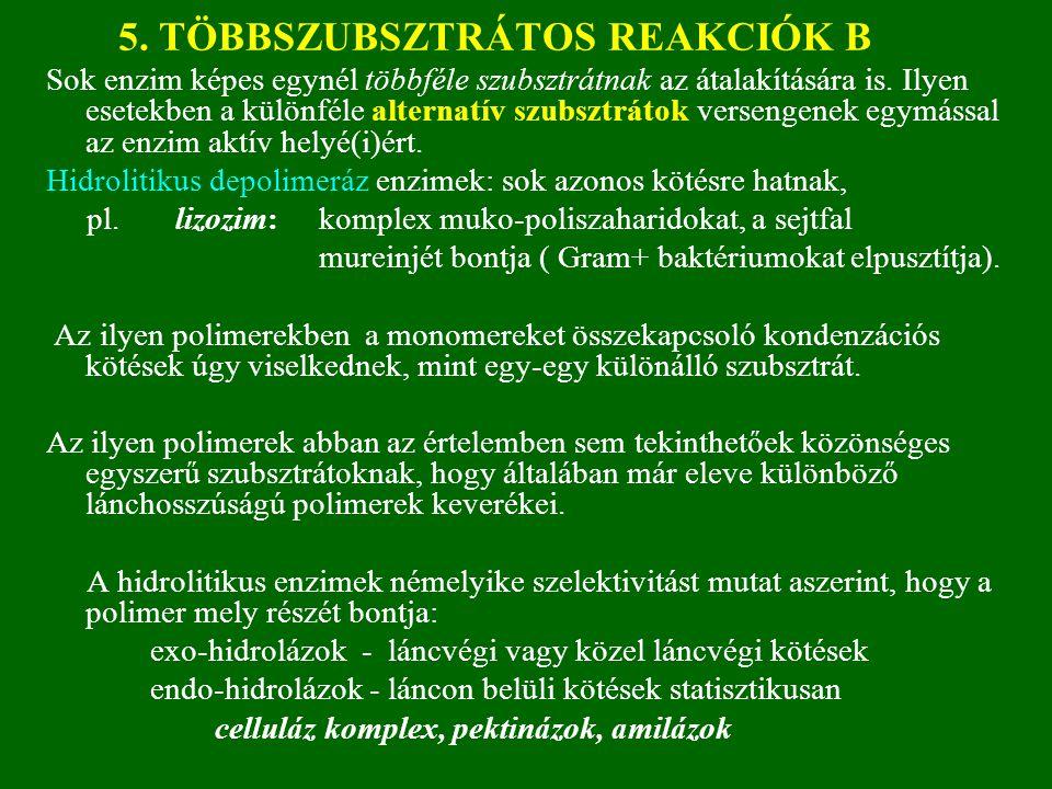 5.TÖBBSZUBSZTRÁTOS REAKCIÓK B1 MODELL: L. KOMP. INH.-nál K app ≠0 eset.