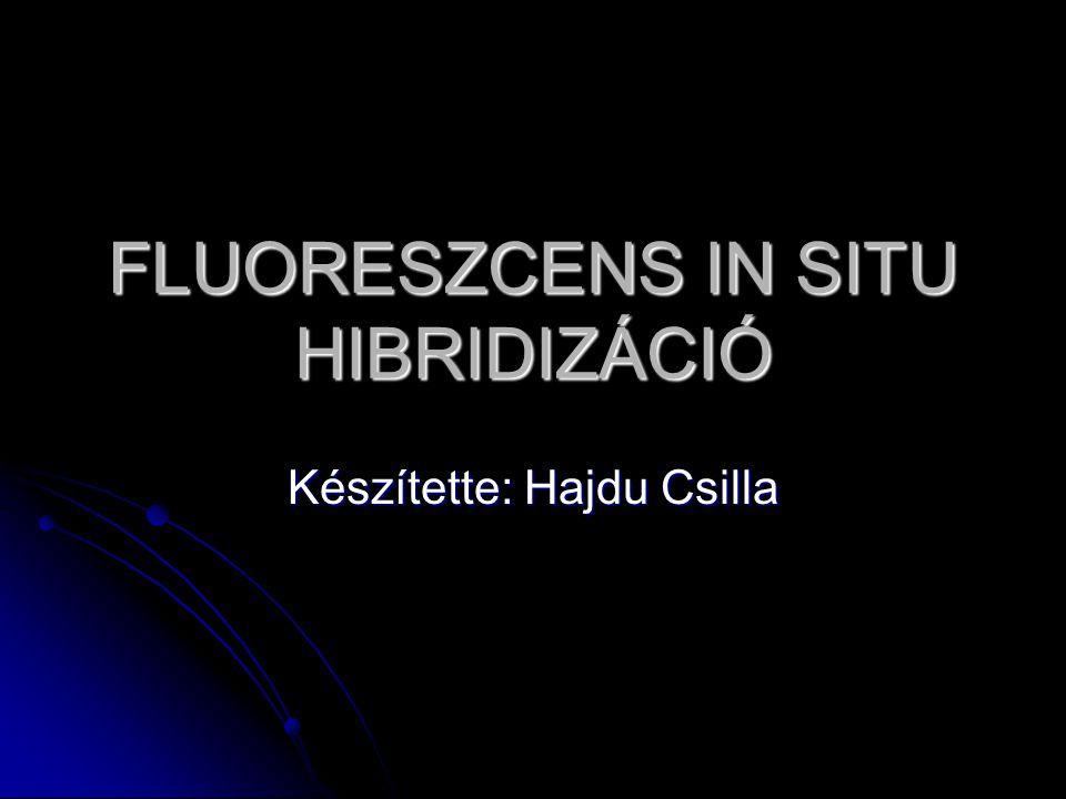 FLUORESZCENS IN SITU HIBRIDIZÁCIÓ Készítette: Hajdu Csilla