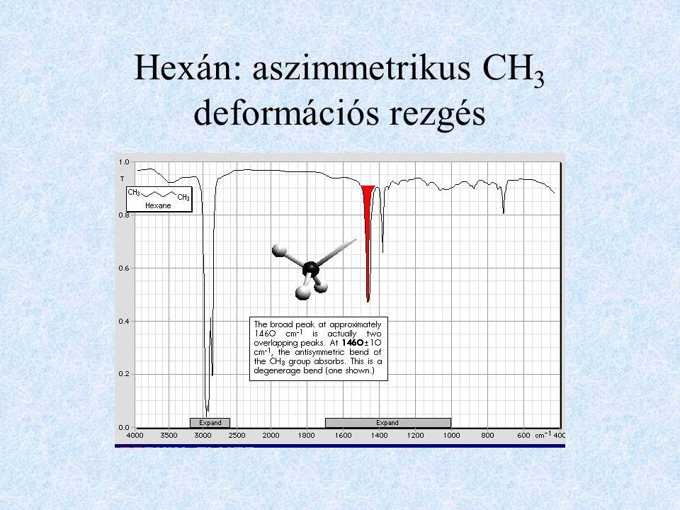 Hexán: aszimmetrikus CH 3 deformációs rezgés