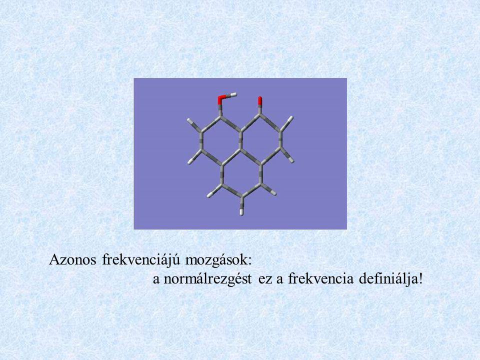 Azonos frekvenciájú mozgások: a normálrezgést ez a frekvencia definiálja!