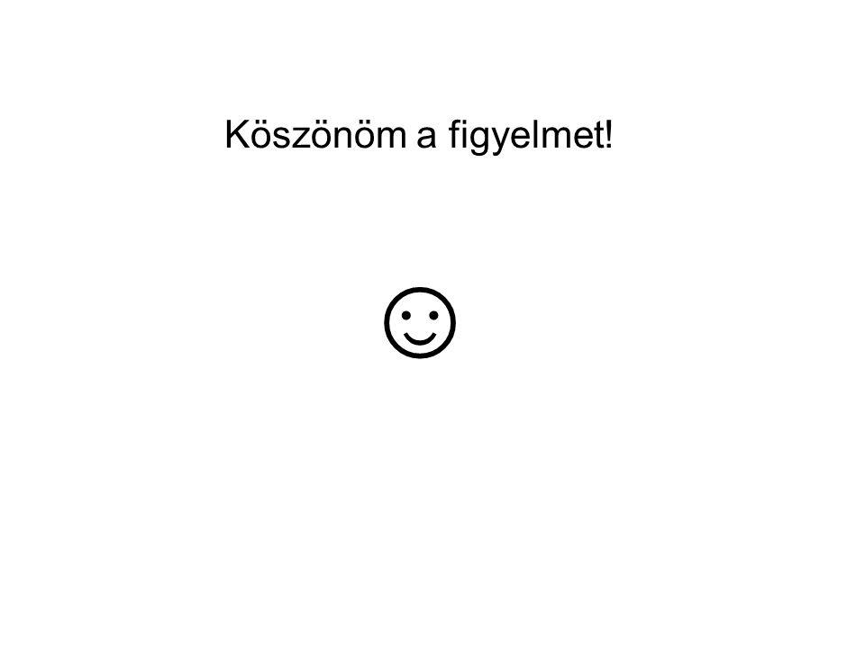 Köszönöm a figyelmet! ☺