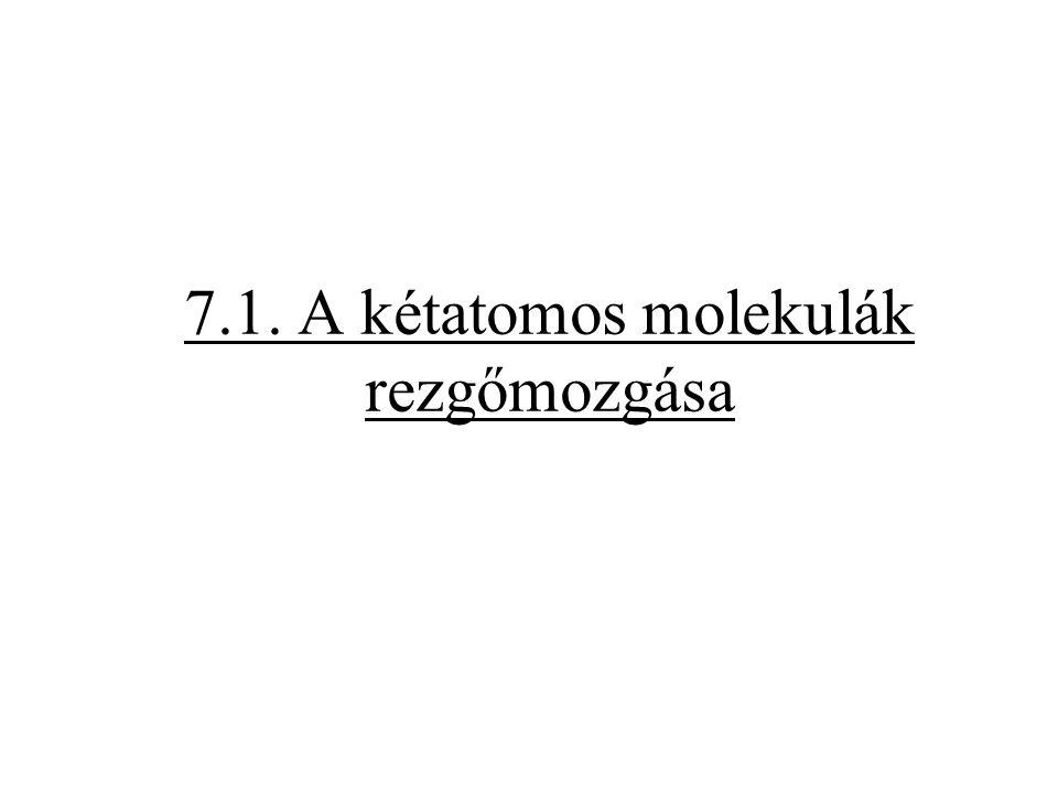 7.1. A kétatomos molekulák rezgőmozgása