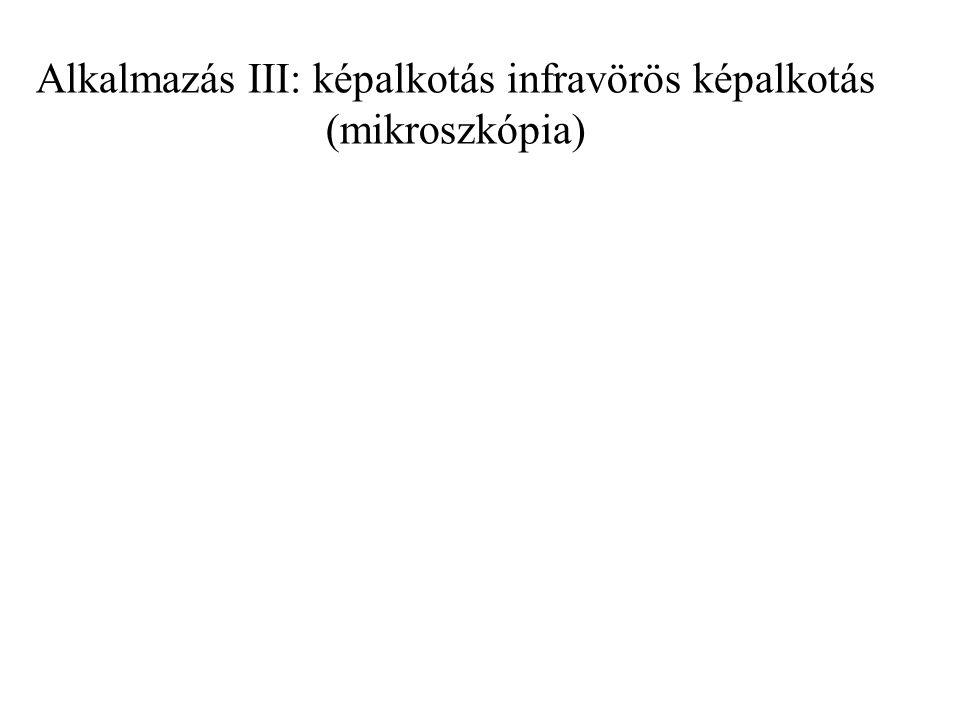 Alkalmazás III: képalkotás infravörös képalkotás (mikroszkópia)