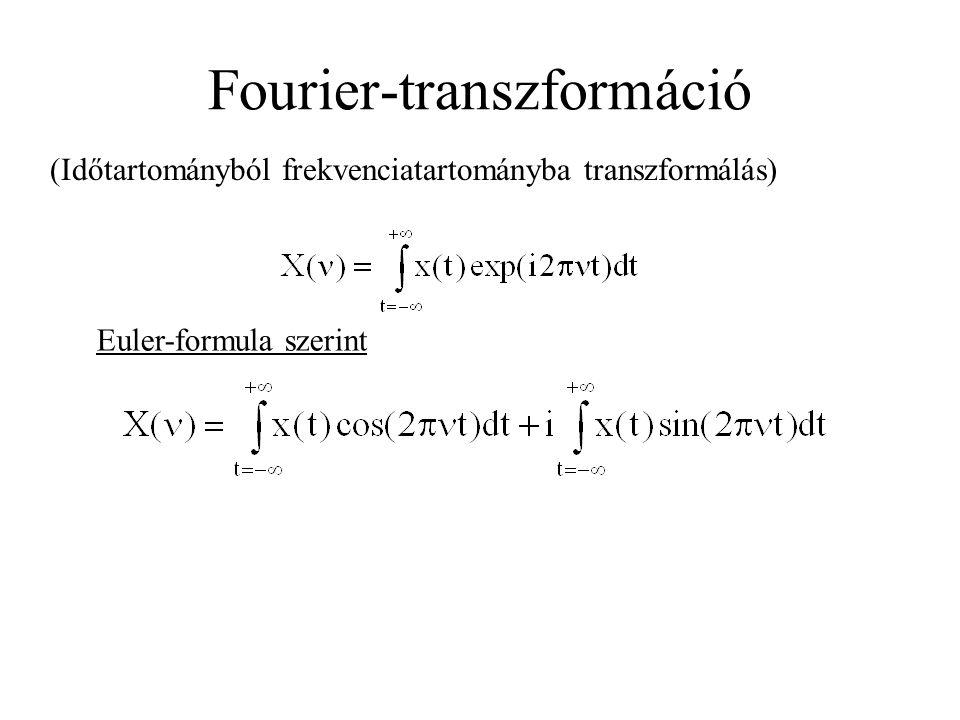 Fourier-transzformáció (Időtartományból frekvenciatartományba transzformálás) Euler-formula szerint