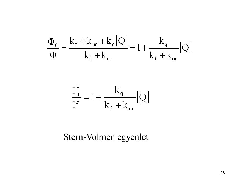 28 Stern-Volmer egyenlet
